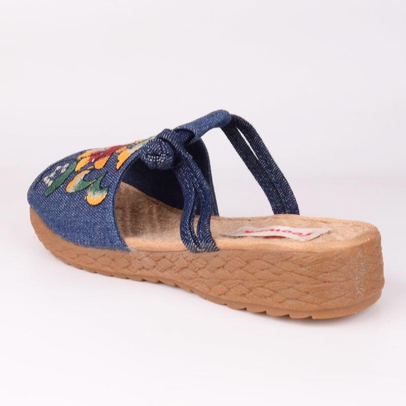 Image 3 - Veowalk الأزياء امرأة نعال مسطحة صندل كاجوال الصينية زهرة التطريز مريحة أحذية ناعمة للنساء zapatos موهيرشباشبأحذية -