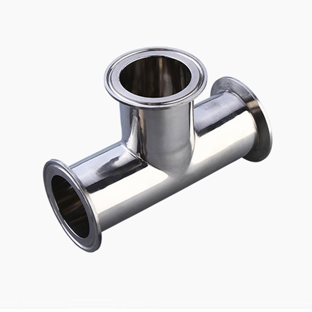 12.5-102mm Equal diameter three li Stainless Steel SS304 Sanitary Ferrule Pipe Fitting tee 3 Way Tee Ferrule three cross steel casing pipe