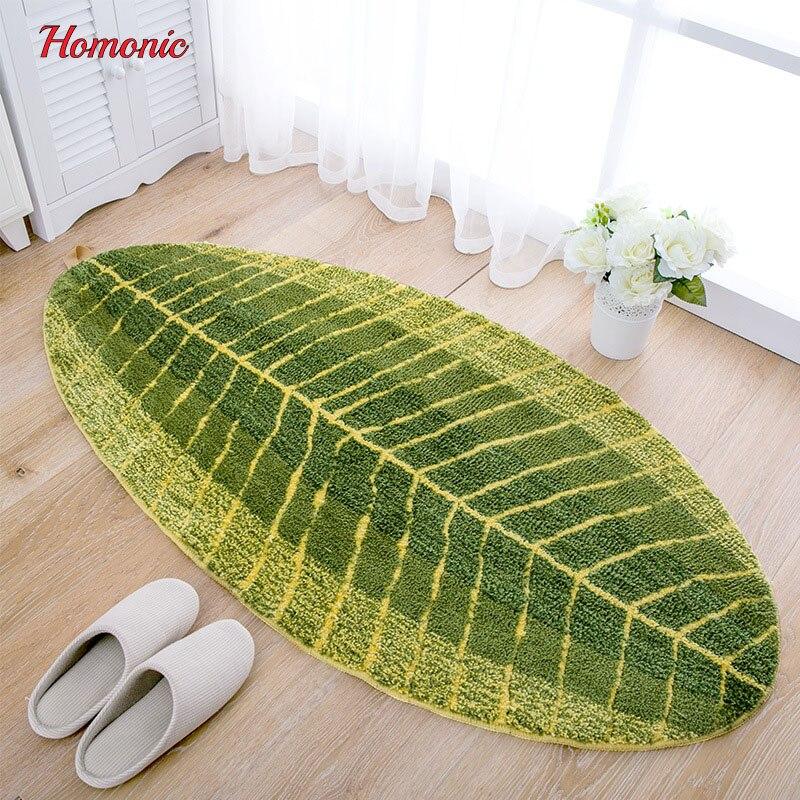 グリーンリーフ形状柔らかいカーペット滑りにくい水吸収床マットカーペットエリアラグバスルームbathmatリビングルーム寝室洗えるカーペットp30