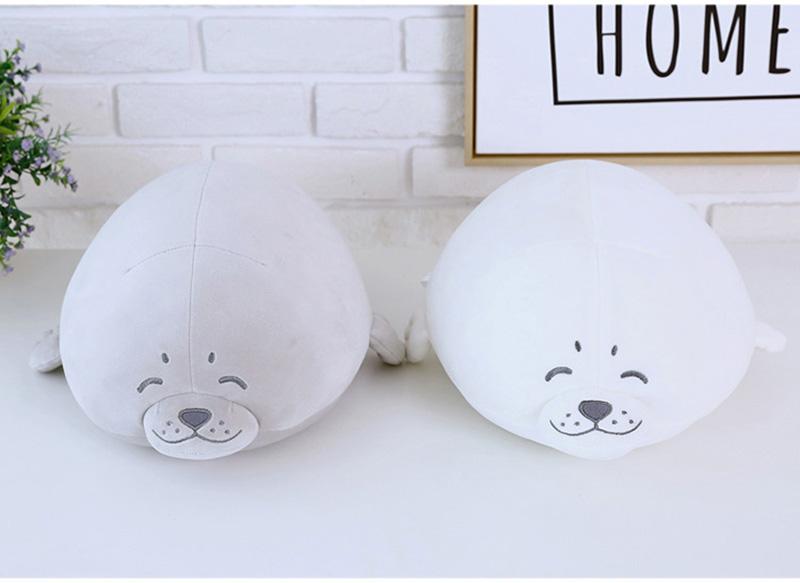 1pcs Cute Soft Animal Sea Lion Doll Baby Sleeping Pillow Marine Animals Seal Plush Toy Kids Stuffed Toys Gift (17)