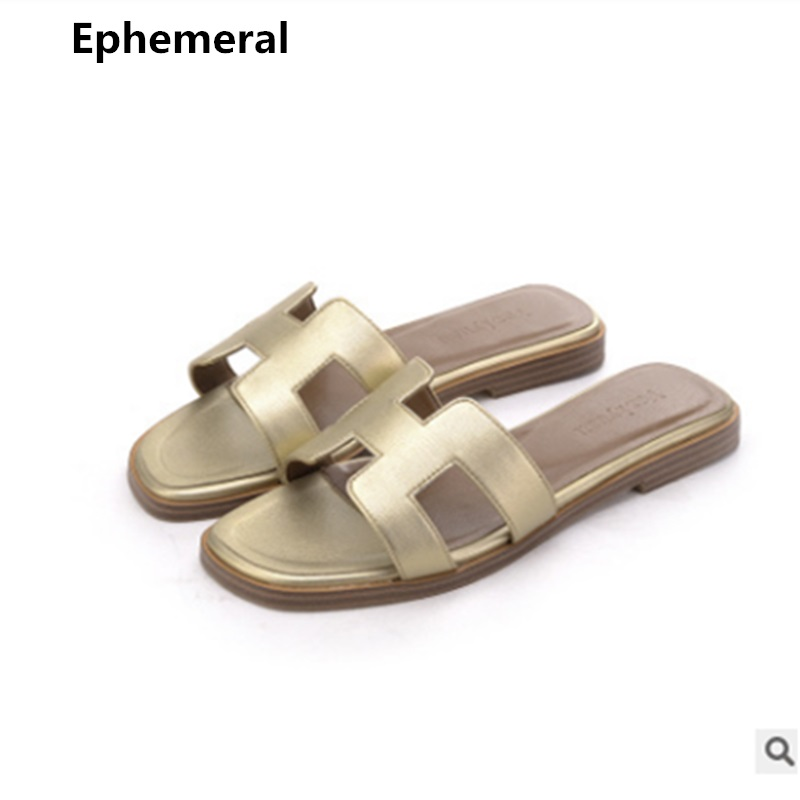 3e1c3fe41 Ladies Brand New 2019 Slippers High Quality Cow split Leather Sheepskin  Suede Flat Slides Summer Outdoor