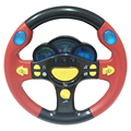 Just Sell Here! High Quantity Russian Musical Steering Wheel, With Music And Light, Diameter: 25.0CM, Best Gifts To Children