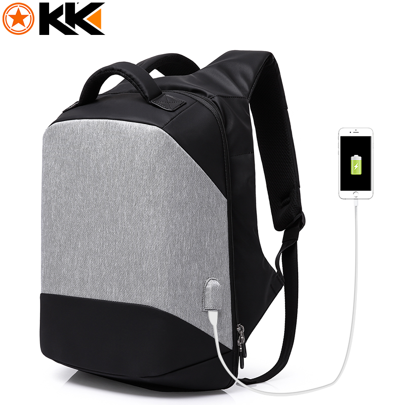 KAKA Multifunction USB Charging 15.6 inch Laptop Backpack Bag Anti theft Backpack Men Fashion Mochilas Male Schoolbag Waterproof