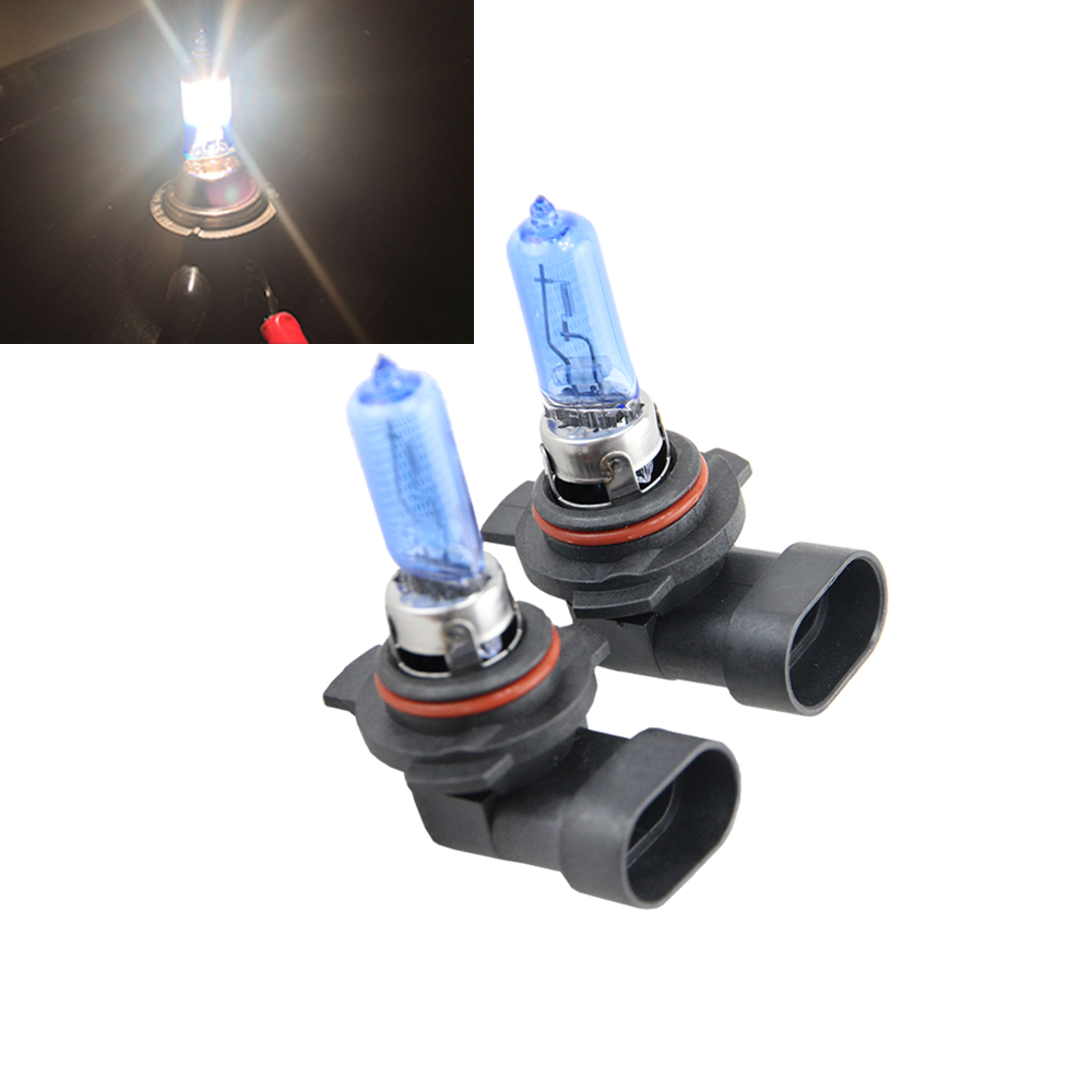 1 Pair 9012 LL HIR2 HIR PX22d 9012 12V 55W 6500K White Halogen Car Lamps Auto Bulbs For Chrysler 200 300 Ford Edge GMC