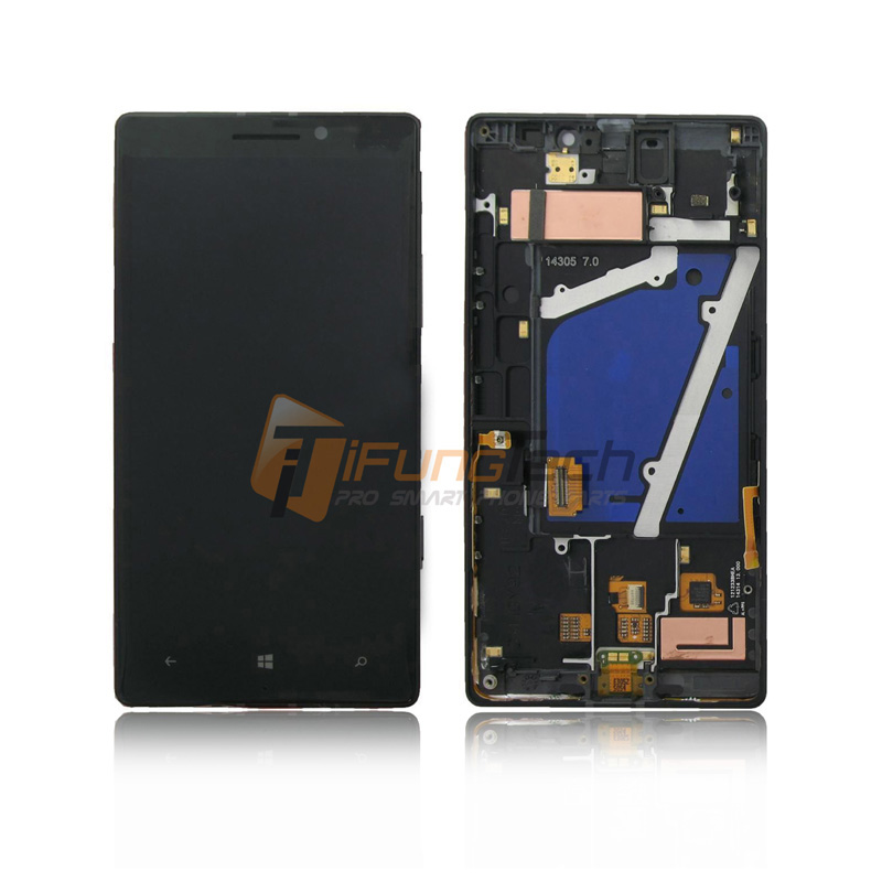 ФОТО 5PCS/LOT 100% Original LCD Screen For Nokia Lumia 930 with Touch Screen Digitizer Assembly Black Free DHL