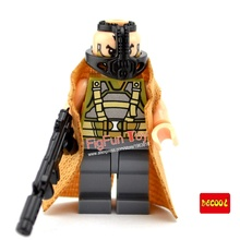 Decool 0215 Bane Minifigure with Coat Mask print with Bulletproof vest  Batman Dark Knight Rises Movie Legoed Compatible