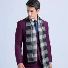 Winter Fashion Cotton Scarf Luxury Brand Tartan Echarpes Foulards Men Business Scarf YJWD342