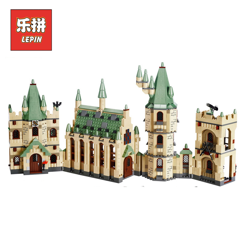 Lepin 16030 Movie Series the Hogwarts Castle 1340pcs Creative Building Block Bricks Compatible 4842 Educational Toy for Children lepin 16030 1340pcs movie series hogwarts city model building blocks bricks toys for children pirate caribbean gift