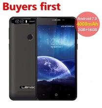 LEAGOO KIICAA POWER Android 7.0 8.0mp Mobile Phone 4000mAh 5.0 Inch MT6580A Quad Core 2GB RAM 16GB ROM Fingerprint Smartphone