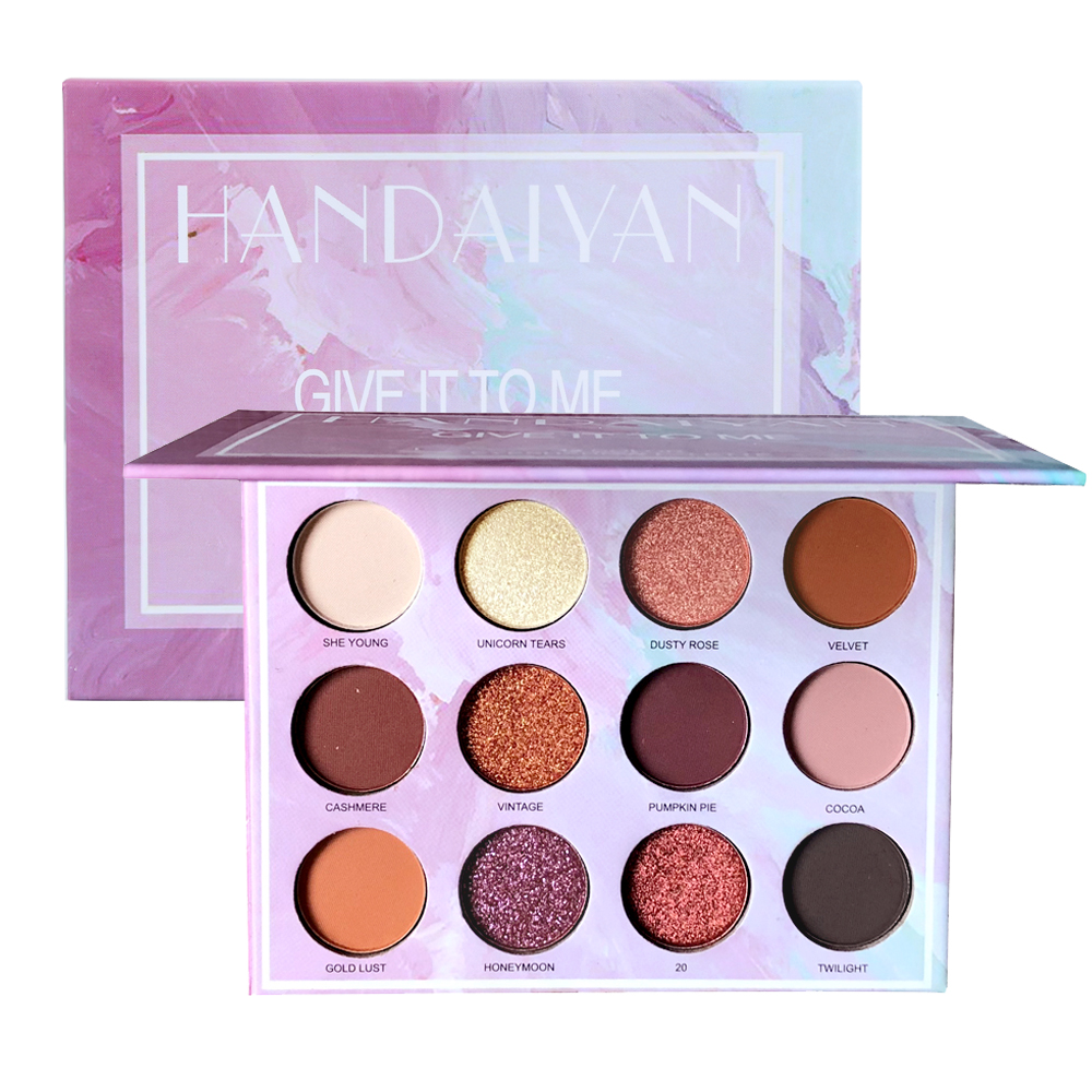 New Hot Popular 12 Color Marble Eyeshadow Palette Professional Fashion Makeup Eye Shadow Palette Cosmetic Set Eye Shadow Beauty Beauty & Health Eye Shadow