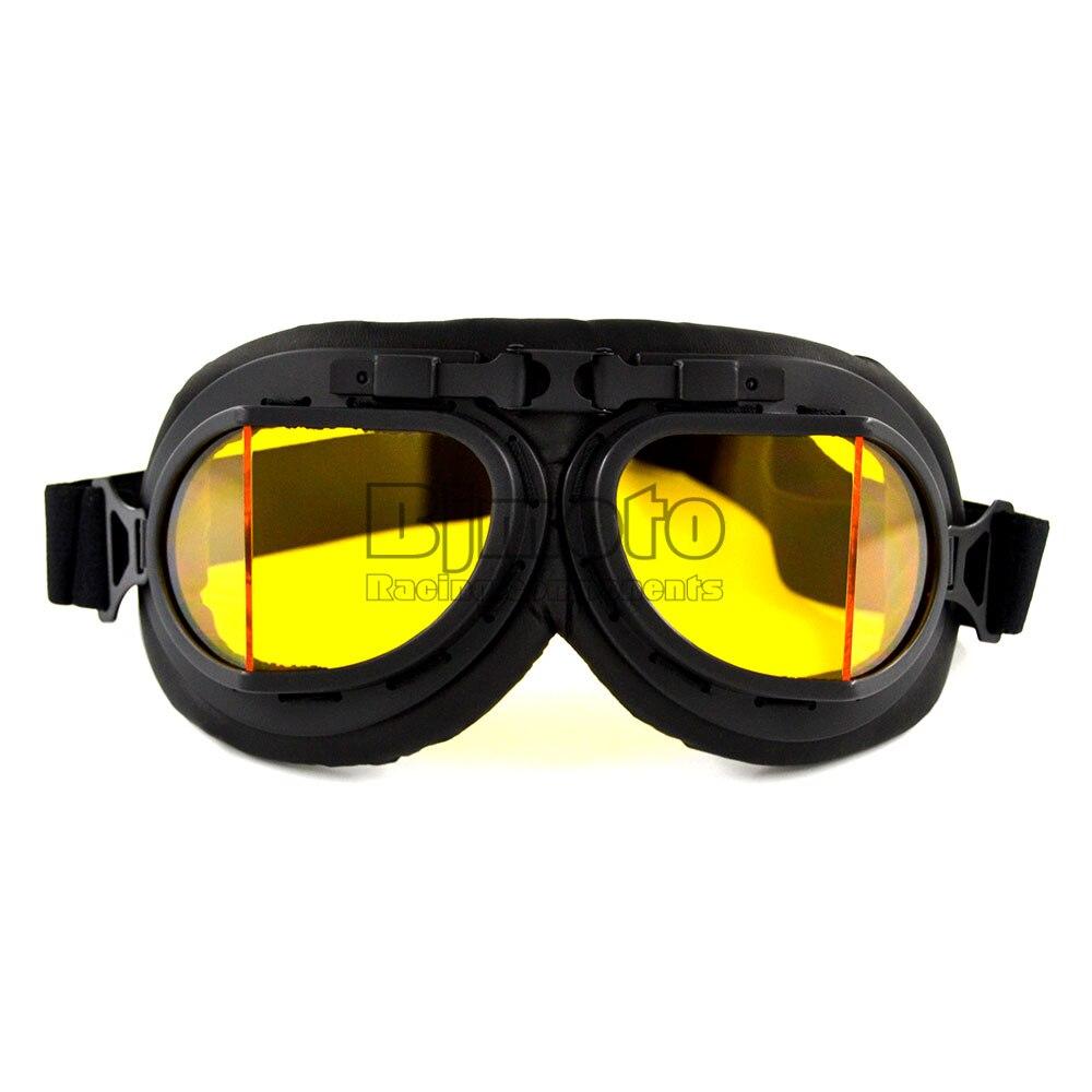 4f7dd5b5069d2 BJBJMOTO Venda Quente Scooter Pilot Goggles Capacete Anti-UV óculos de  Motocross Óculos De Proteção do Capacete Da Motocicleta Do Vintage