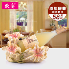 Wine rack fashion wine resin decoration set red