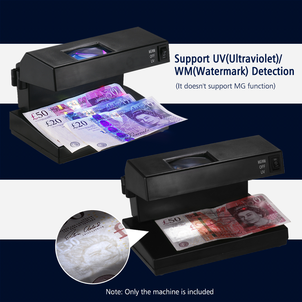 Bill Detector Checker-Support Banknotes Cash Cash-Currency Counterfeit Portable Desktop