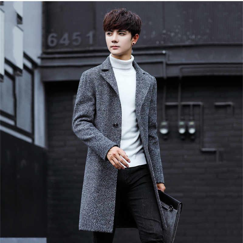 Plus Size 5xl 2020 Slim Smart Casual Korean Style Wool Mens Coats Overcoats Fashion Winter Dress Coat Mens Wool Blends Aliexpress