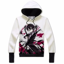 Cartoon Anime Hoodie Men Sword Art Online Kirito Costume Hooded for Teens Adult