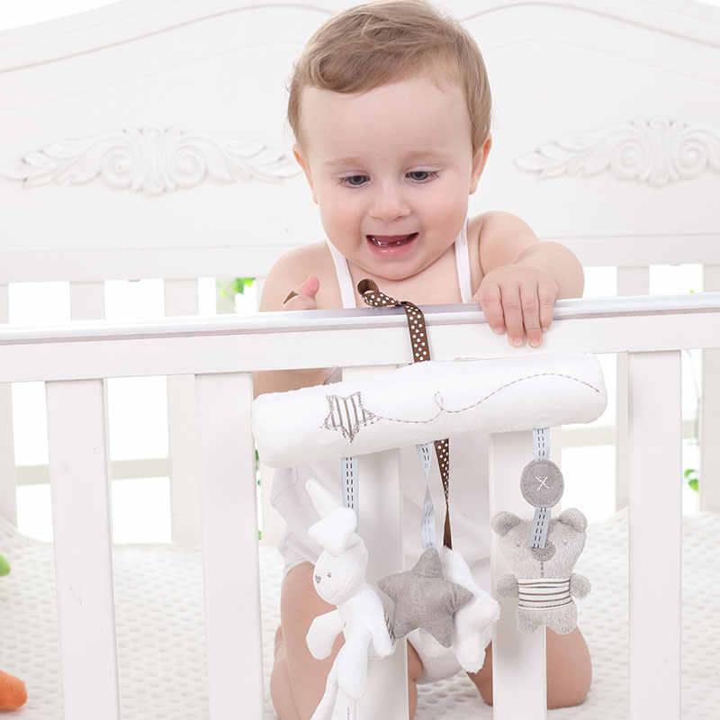 Детский кролик погремушка музыкальная игрушка на кровать коляску подвесная плюшевая кукла безопасность многофункциональные игрушки подарок 20*21 см