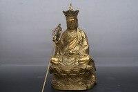 China old Bronze statue Ksitigarbha Buddha statue