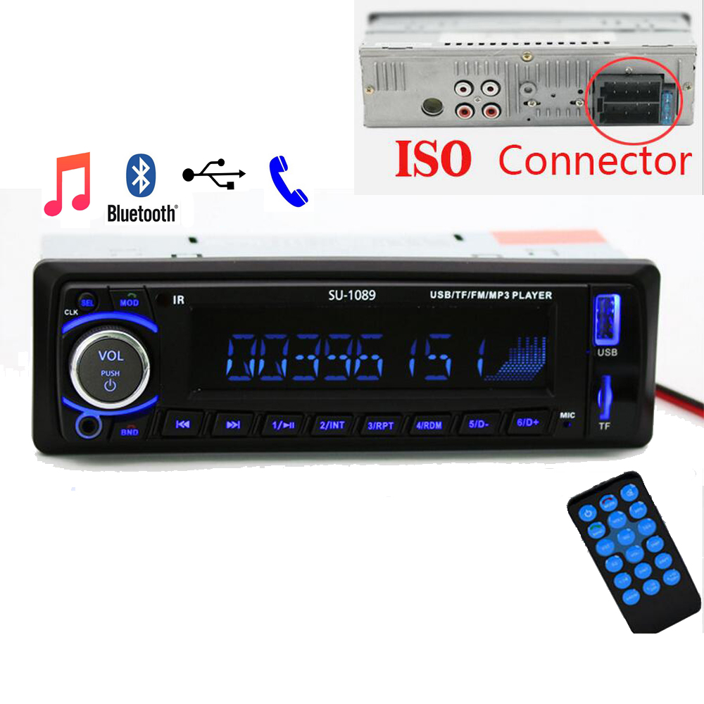 Auto radio Car Radio 12V Bluetooth V2.0 SD USB MP3 WMA Car Audio Stereo In-dash 1 Din FM Aux Input Receiver car usb sd aux adapter digital music changer mp3 converter for skoda octavia 2007 2011 fits select oem radios