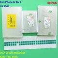 """50 Pçs/lote 250um OCA adesivo para iPhone 6G 4.7 """"Mit para formitsu filme para reparar quebrado LCD touch screen oca laminador"""