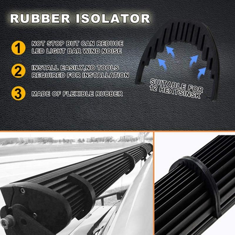 06 לד אור בר 50Inch 288W Offroad ספוט המבול Combo העליון גג מנורות חיווט רתמה Rocker Switch עבור 06-10 האמר H3 הוביל בר (3)
