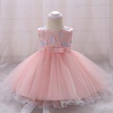 2018 vintage Baby Girl Dress Baptism Dresses for Girls 1st year birthday party wedding Christening baby infant clothing bebes цена в Москве и Питере