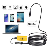USB Wifi Endoscope Camera Android 720P Endoscope Camera Inspection Snake Tube Softwire Android IOS Borescope 10M