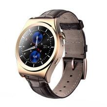 Lederband Intelligente Uhren Armbanduhr mit Arabischen Pulsmesser Smartwatch tragbare geräte für Android iOS Smartphone