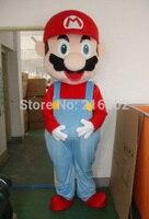 Высокое качество Супер Марио и Луиджи Маскоты костюм для взрослых Размеры для Хэллоуин костюмы для праздников