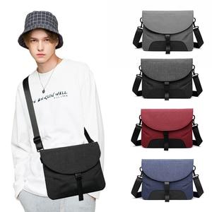 Image 5 - Männer Leinwand Abnehmbare Messenger Taschen Hohe Qualität Wasserdichte Schulter Tasche + Aktentasche Für Business Travel Umhängetasche