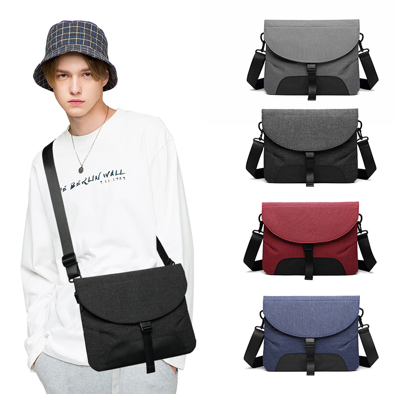 Image 5 - Men Canvas Detachable Messenger Bags High Quality Waterproof Shoulder Bag + Briefcase For Women Business Travel Crossbody Bag-in Crossbody Bags from Luggage & Bags