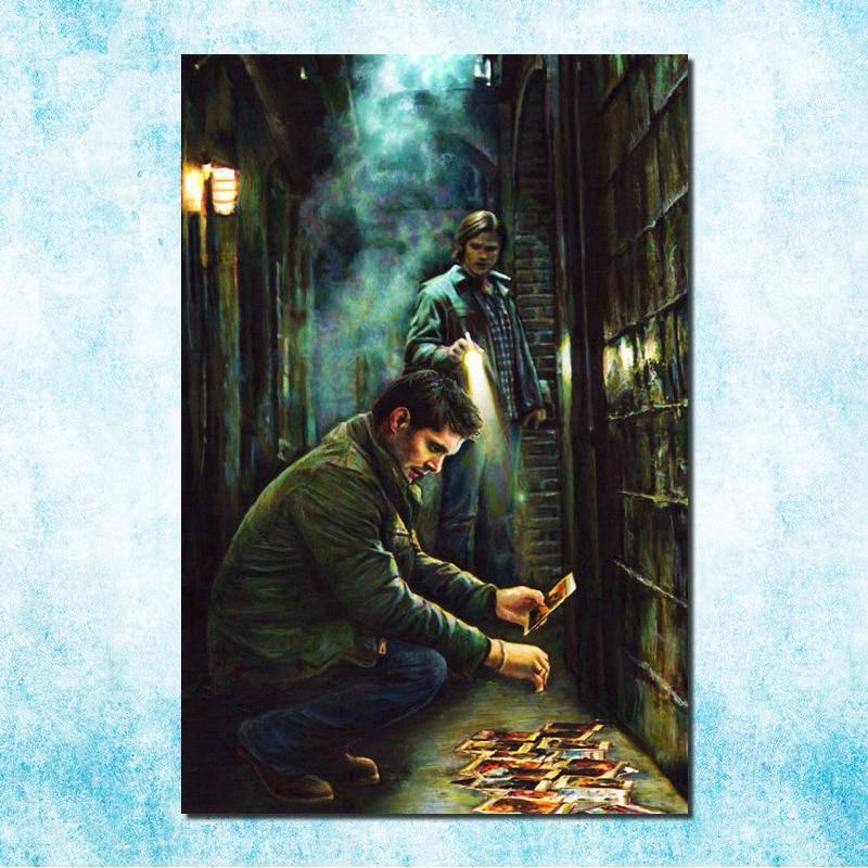 "Supernatural Devil Ghost Silk Fabric Poster Print 13x20 24x36/"" Sam Winchester"