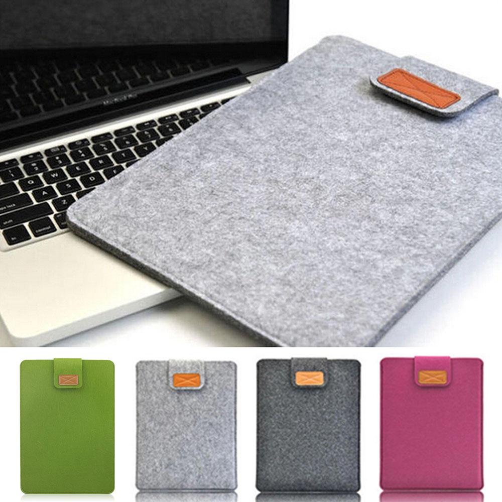 Soft Wool Felt <font><b>Sleeve</b></font> Bag <font><b>Laptop</b></font> Pouch Case For Apple Macbook Air 11inch <font><b>13inch</b></font> <font><b>Laptop</b></font> Felt <font><b>Sleeve</b></font> Pouch For Macbook image