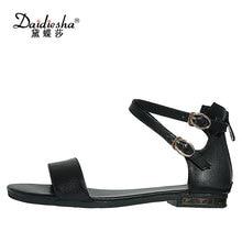 Daidiesha Elegant Style Women Sexy Sandals Cow leather Girls Party Dress Shoes Cross tied Sapatos Feminino