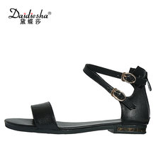 Daidiesha Elegant Style Women Sexy Sandals Cow leather Girls Party Dress Shoes Cross-tied Sapatos Feminino Plus size 34-43