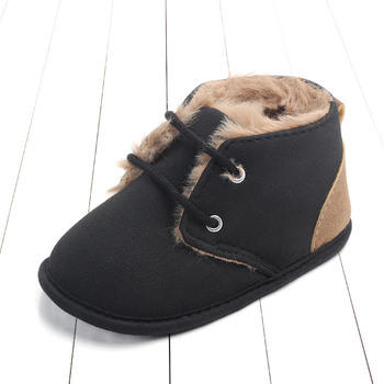 2020 Baby Girls Boys Winter Keep Warm Shoes First Walkers Sneakers Kids Crib Infant Toddler Footwear Boots Newborns Prewalkers - Black, 0-6 Months
