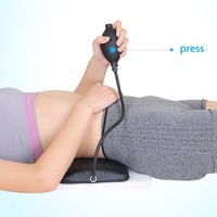 1 pcs Manual Inflatable Spine Pain Relief Back Massage Cushion Lumbar Traction Stretching Device Waist Spine Relax Health Care