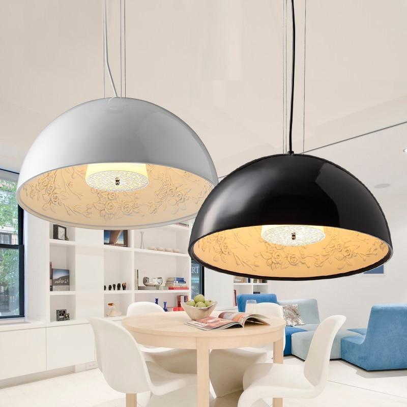 Moderne koepel zwart wit eetkamer semicircle kroonluchter art - Binnenverlichting