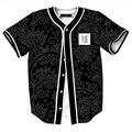 Bolsa de nueva Vintage Floral Print 3D Tee Shirts Hombres Mujeres Corto Manga de La Camiseta Harajuku Jersey de Béisbol de La Cadera Hop Camisetas envío libre