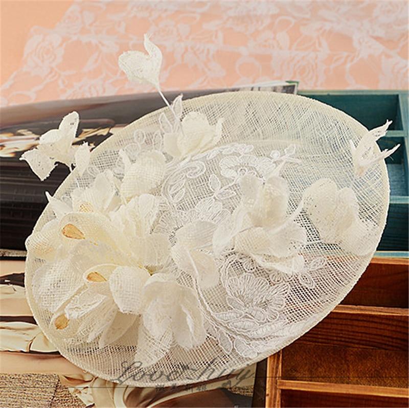 ФОТО Sinamay Disc Lace Fascinator Clip Hat With Silk Flowers Bridal Headpiece Wedding Hats And Fascinators Hair Accessories WIGO0798