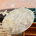 Sinamay Disc Lace Fascinator Clip Hat With Silk Flowers Bridal Headpiece Wedding Hats And Fascinators Hair Accessories WIGO0798