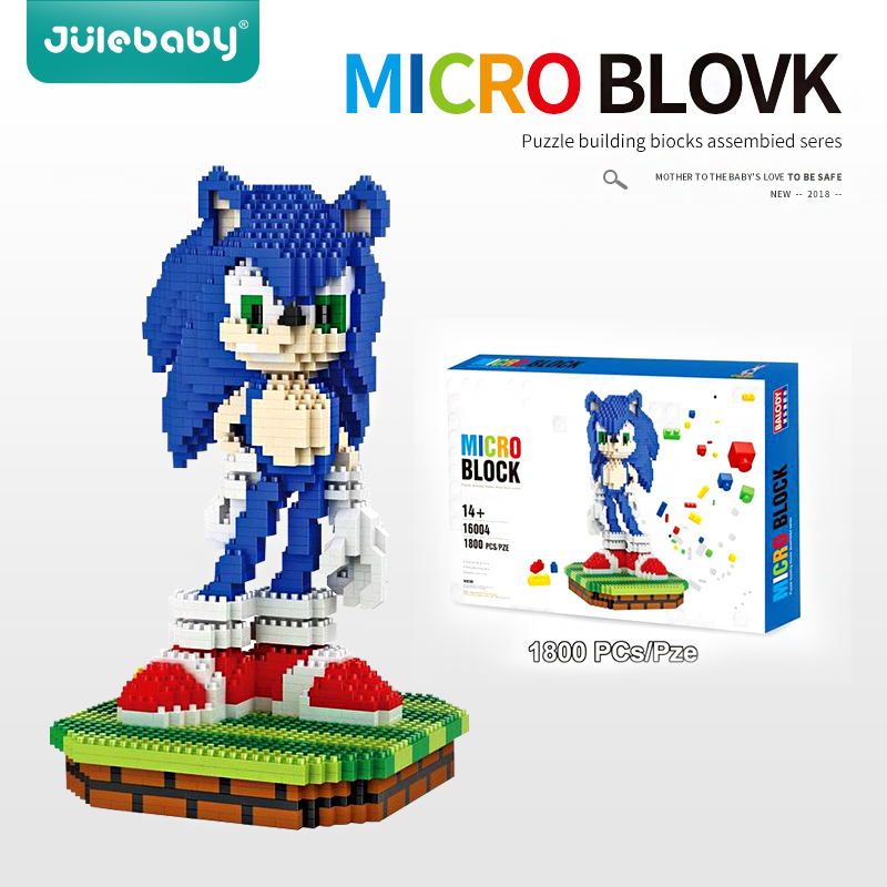 1800 Pcs Design Building Blocks Toys For Children Boys Kids Compatible With Brick Educational Model Sonic