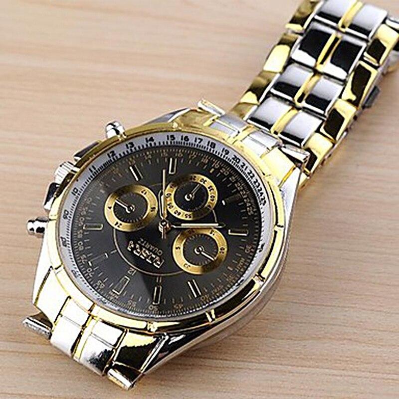 New Men's Watch Stainless Steel Business Watches Quartz Casual Fashion Male Luxury Elegant Wristwatch Saati Relogio Masculino