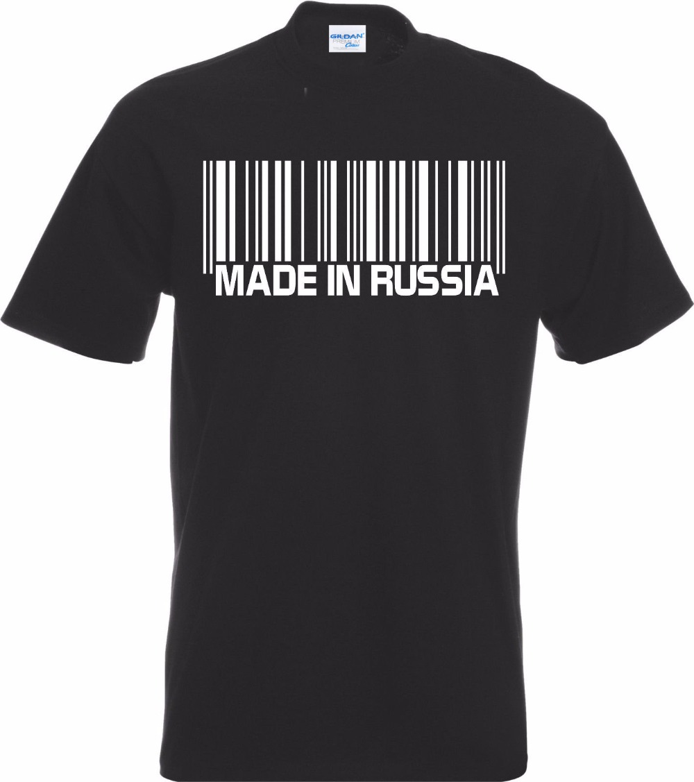 Men's new high-quality hip-hop cotton casual manufacturing barcode T-shirt Cccp Ussr  Tee shirt