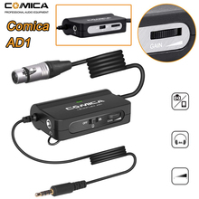 Comica AD1 Microphone for DSLR Cameras Camcorders Smartphones Phone Preamp XLR to 3.5mm Audio Adapter xlr to TRS/TRRS Adapter