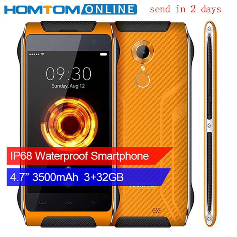 Оригинальный HOMTOM HT20 PRO IP68 Водонепроницаемый смартфон MTK6753 Восьмиядерный 8.0MP 4,7 дюймов 3g Оперативная память 32 г Встроенная память 4 г отпечатк...