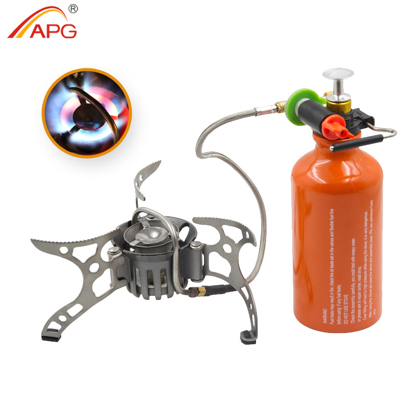 APG Portable Outdoor Gasoline Stove Folding Camping Oil Gas Multi Use Burners Hiking Picnic Cooking Split