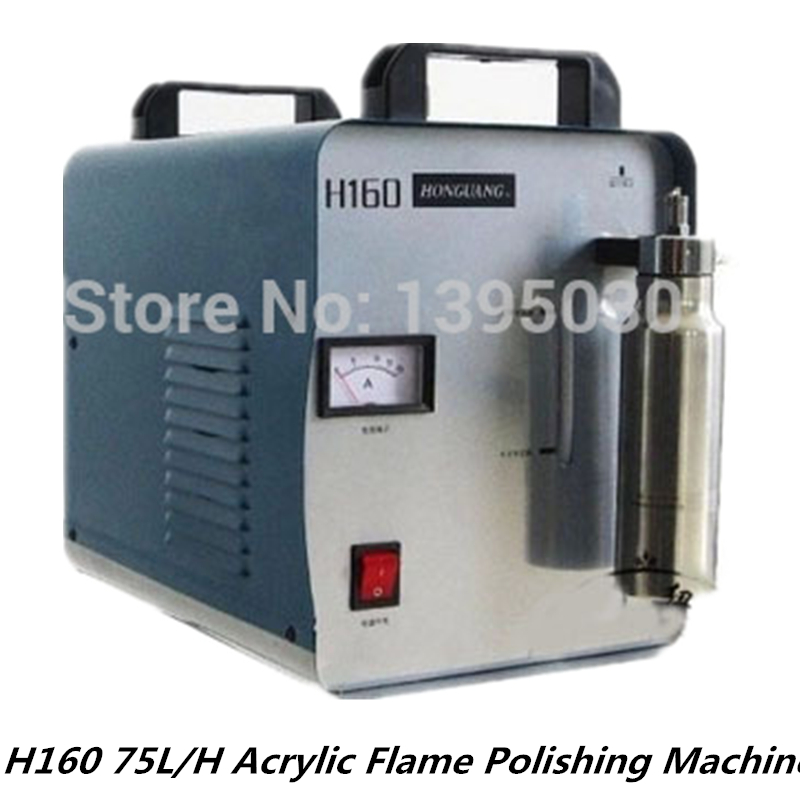 220V/110V H160 Acrylic Flame Polishing Machine Electric Grinder 75L/H Crystal Oxygen Hydrogen Polisher Machine English manual