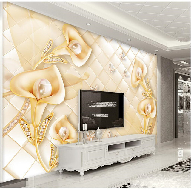 Custom Any Size Photo Background Wallpapers Silk Morning Glory Art ...
