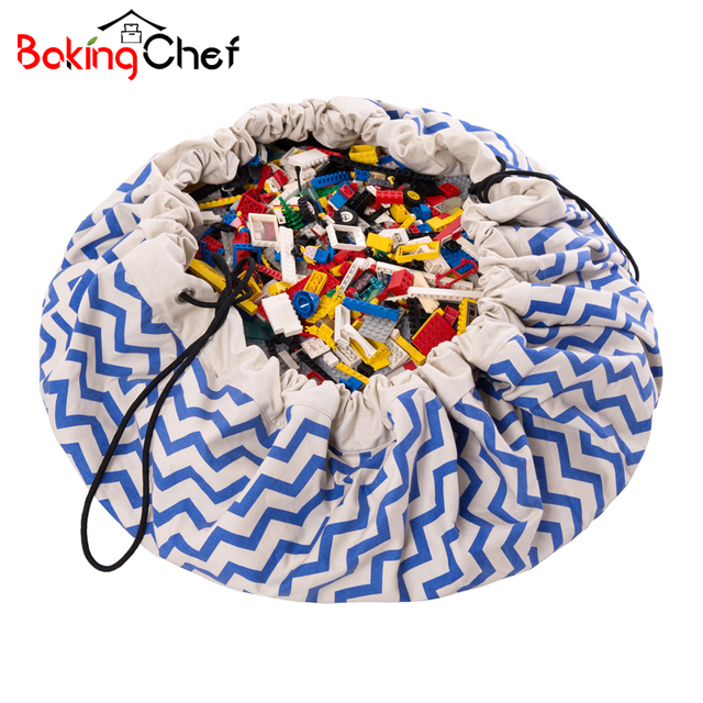 BAKINGCHEF Portable Kids Toy Storage Bag Bunch Pocket Outdoor Home Children  Play Organizer Accessories Supplies Items