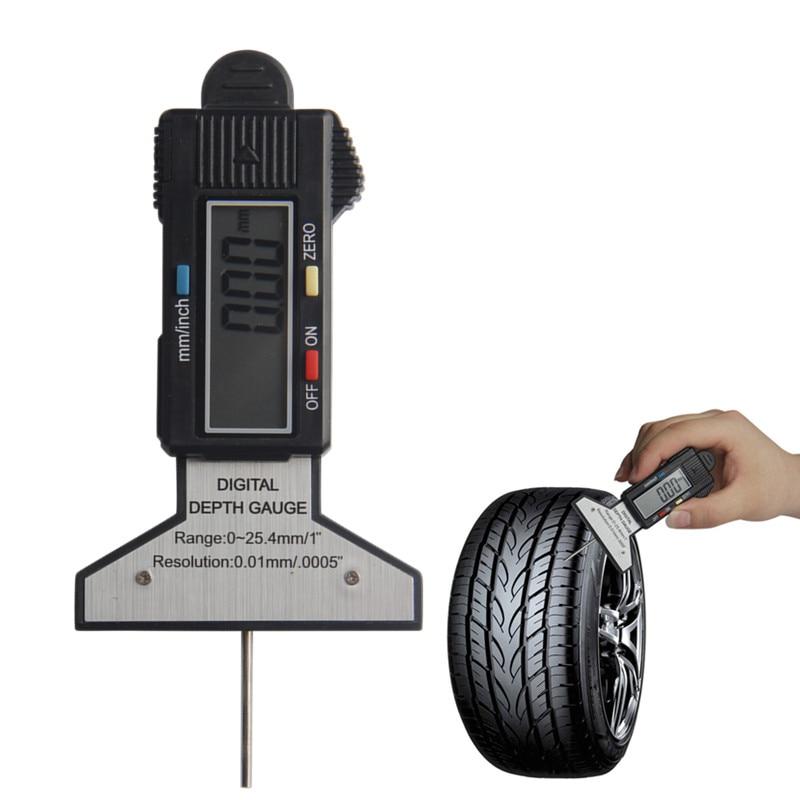 digital depth gauge 0 electronic lcd tire tyre wheel tread depth brake gage. Black Bedroom Furniture Sets. Home Design Ideas
